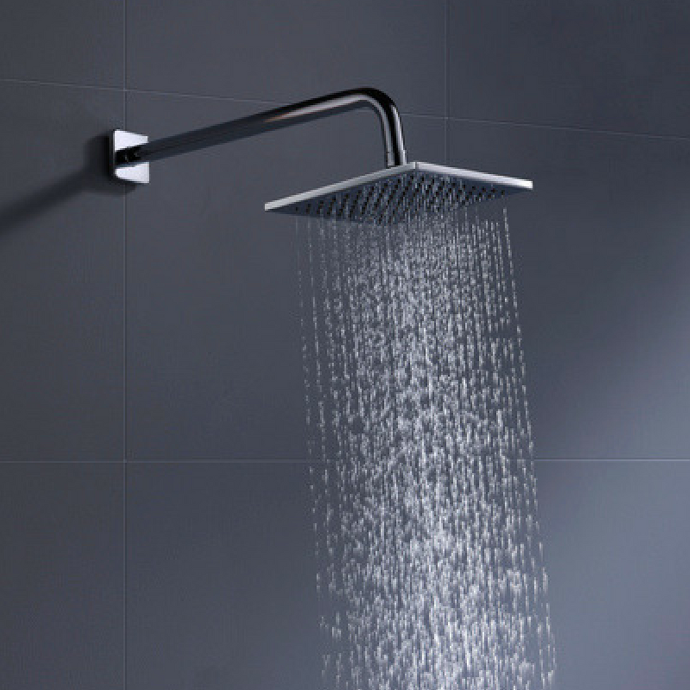Solid Metal 8 Inch Square Rain Shower Head Drenching 2 5 Gpm