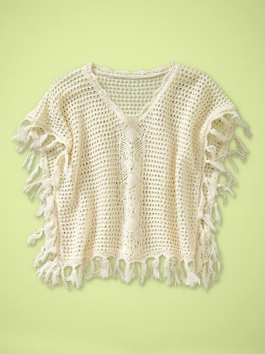 Toddler Girl: Crocheted Fringe Poncho | Sawyer grey will always be a ...
