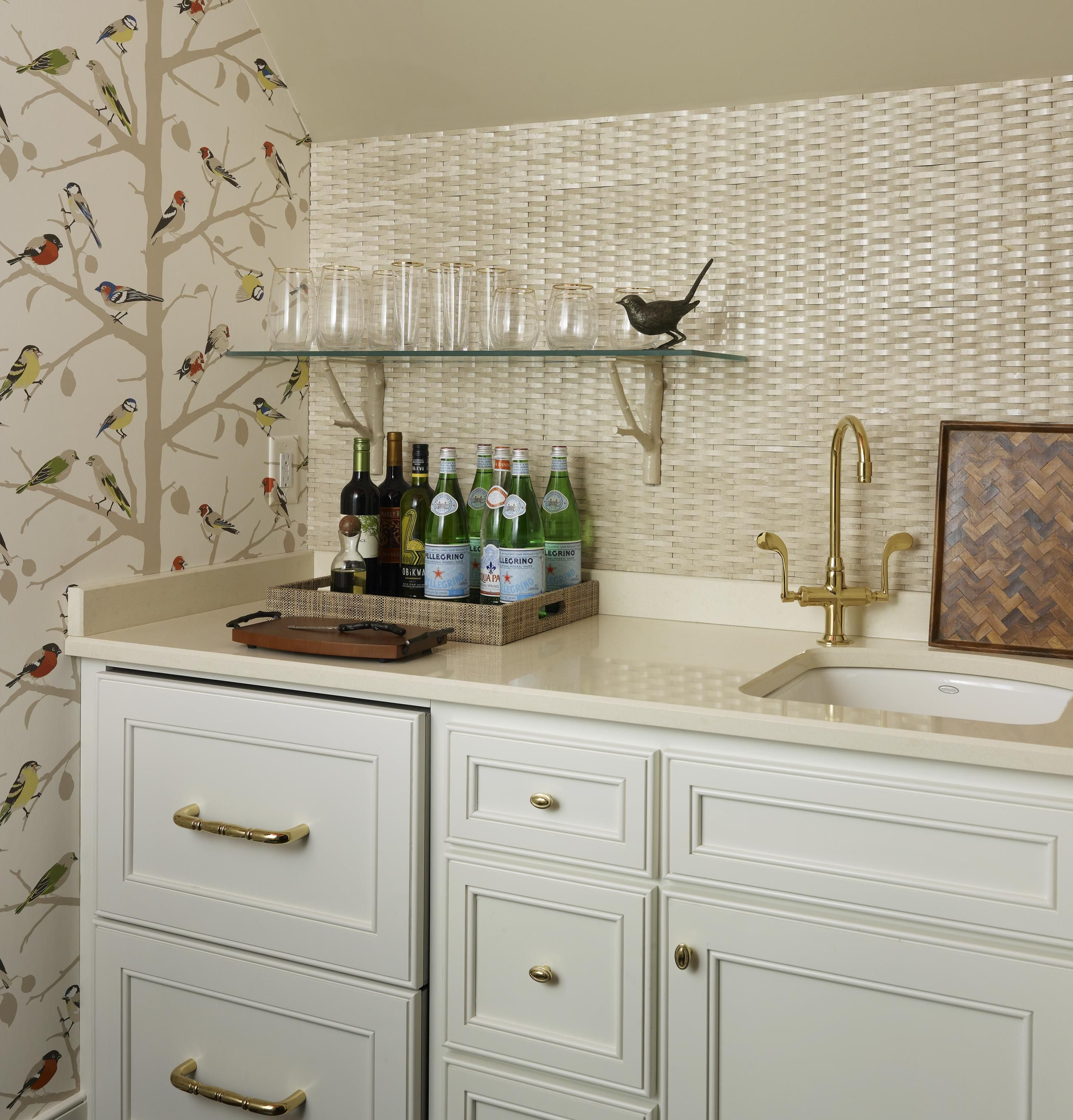 Wallpaper Magazine Kitchen Design 3 D Backsplash Behind Vanity Love Cream And White Color