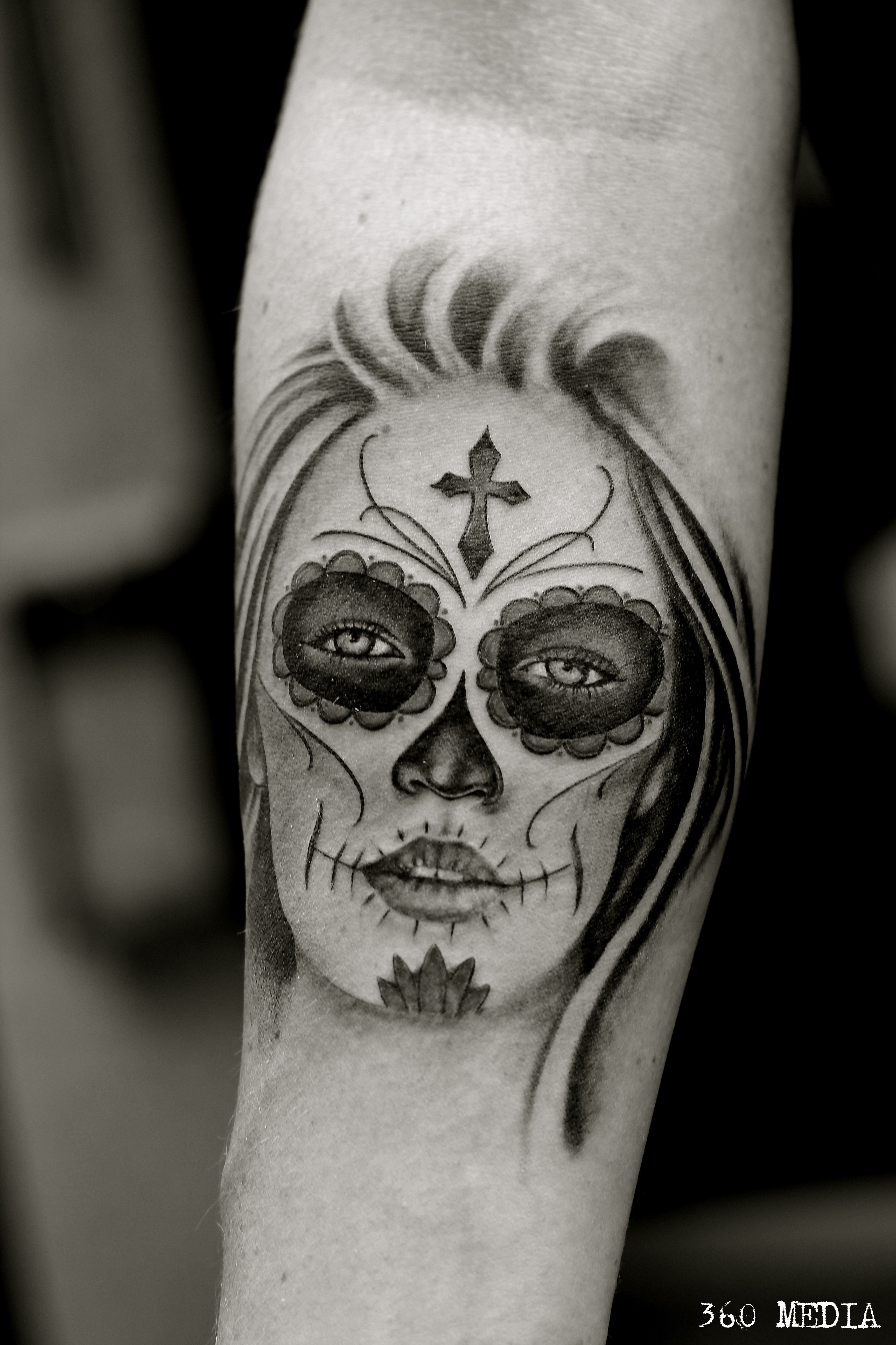 Sugarskullladytattoo tattoo sugarskull sugargirl