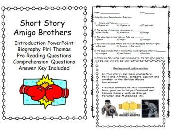 Amigo Brothers Introduction PowerPoint Pre Reading ...