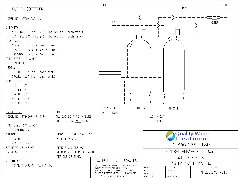 fleck 2900nxt duplex commercial water softener [ 3000 x 2250 Pixel ]