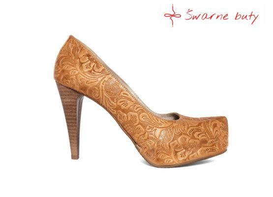 Klasyczne Szpilki Z Tloczonej Skory Boots Shoes Heeled Mules