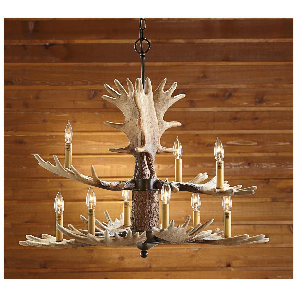 Castlecreek 9 light moose antler chandelier offers rustic hunting castlecreek 9 light moose antler chandelier offers rustic hunting lodge charm aloadofball Image collections