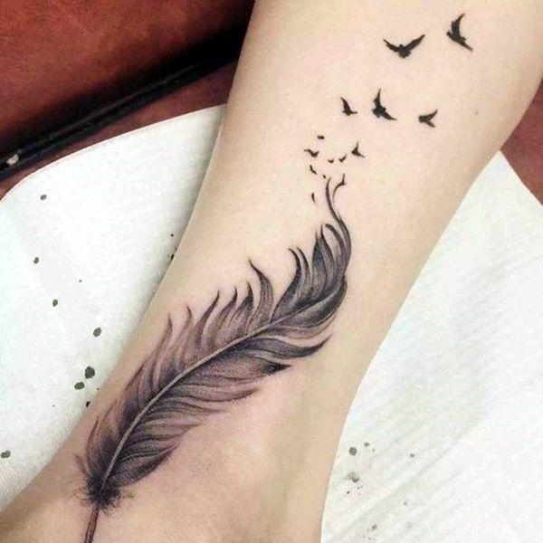 40 Tiny Bird Tattoo Ideas To Admire Bored Art Feather Tattoo Ankle Tattoos Cliche Tattoo