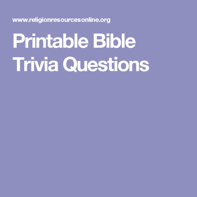 graphic about Printable Bible Jeopardy named Printable Bible Trivia Issues Youth local community Bible