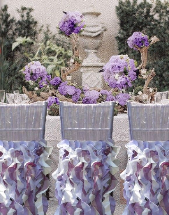Curly Willow Lavender Chair Sleeve Covers Timelesstreasure Party