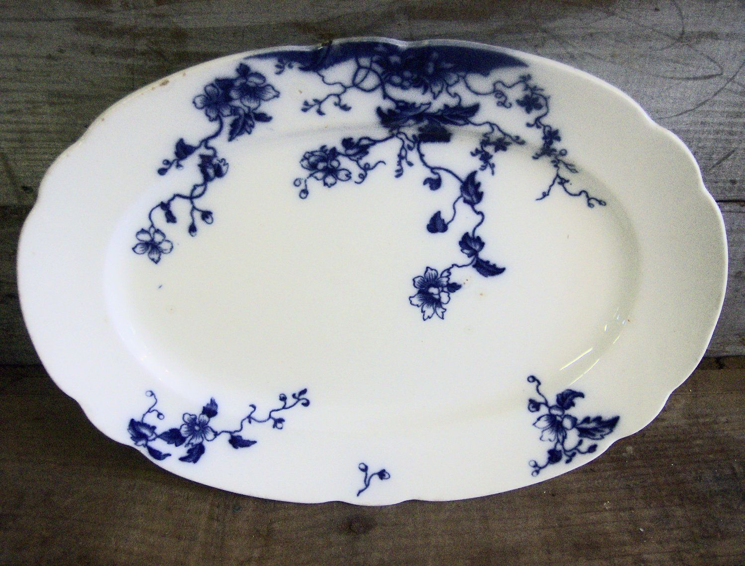 Antique Grindley China Duchess Flow Blue Pattern : antique blue plates - pezcame.com