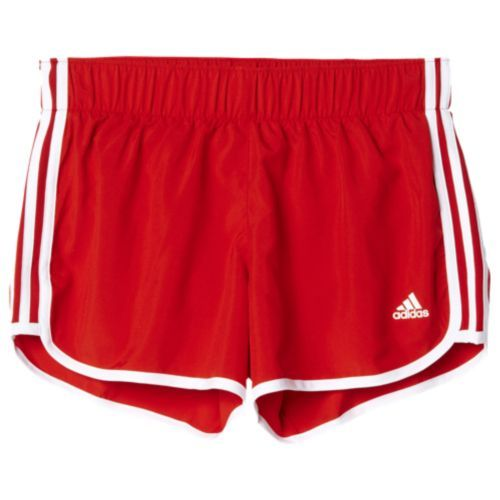 adidas M10 Shorts - Women s - Red   White  cee55dc45a1