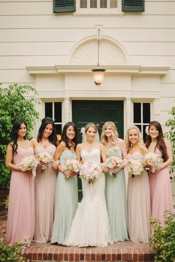 Vintage Light Pink Bridesmaid Dresses