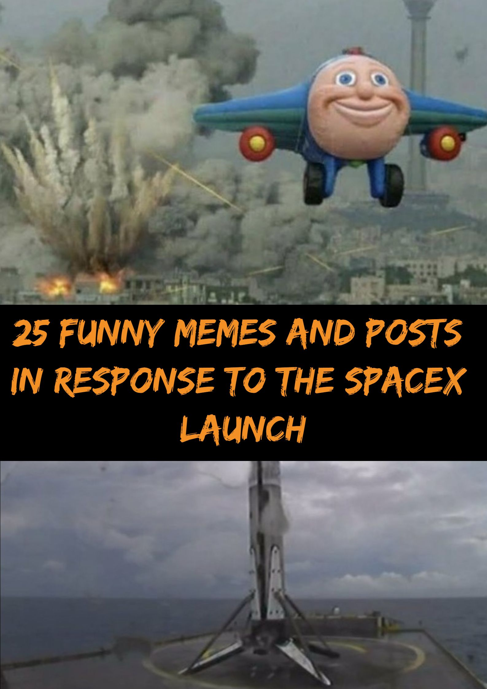 25 Funny Memes And Posts In Response To The Spacex Launch Funny Funny Memes Fun Facts