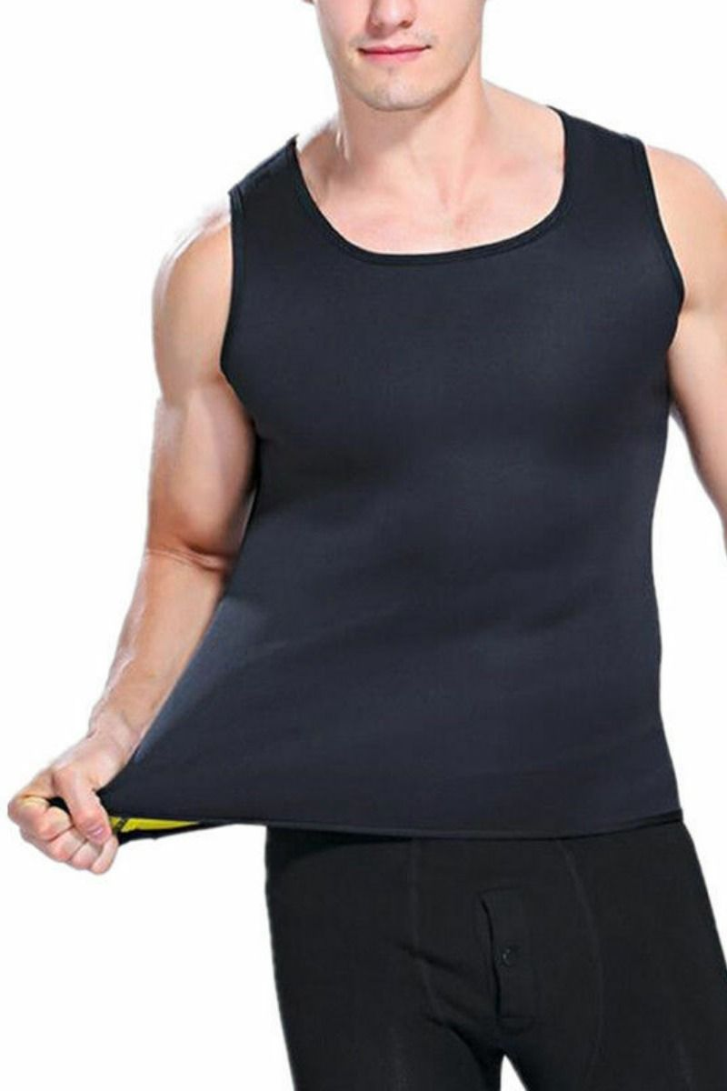 Men Neoprene Body Shaper Waist Trainer Burn Fat Corset Sauna Thermo Sweat Vest