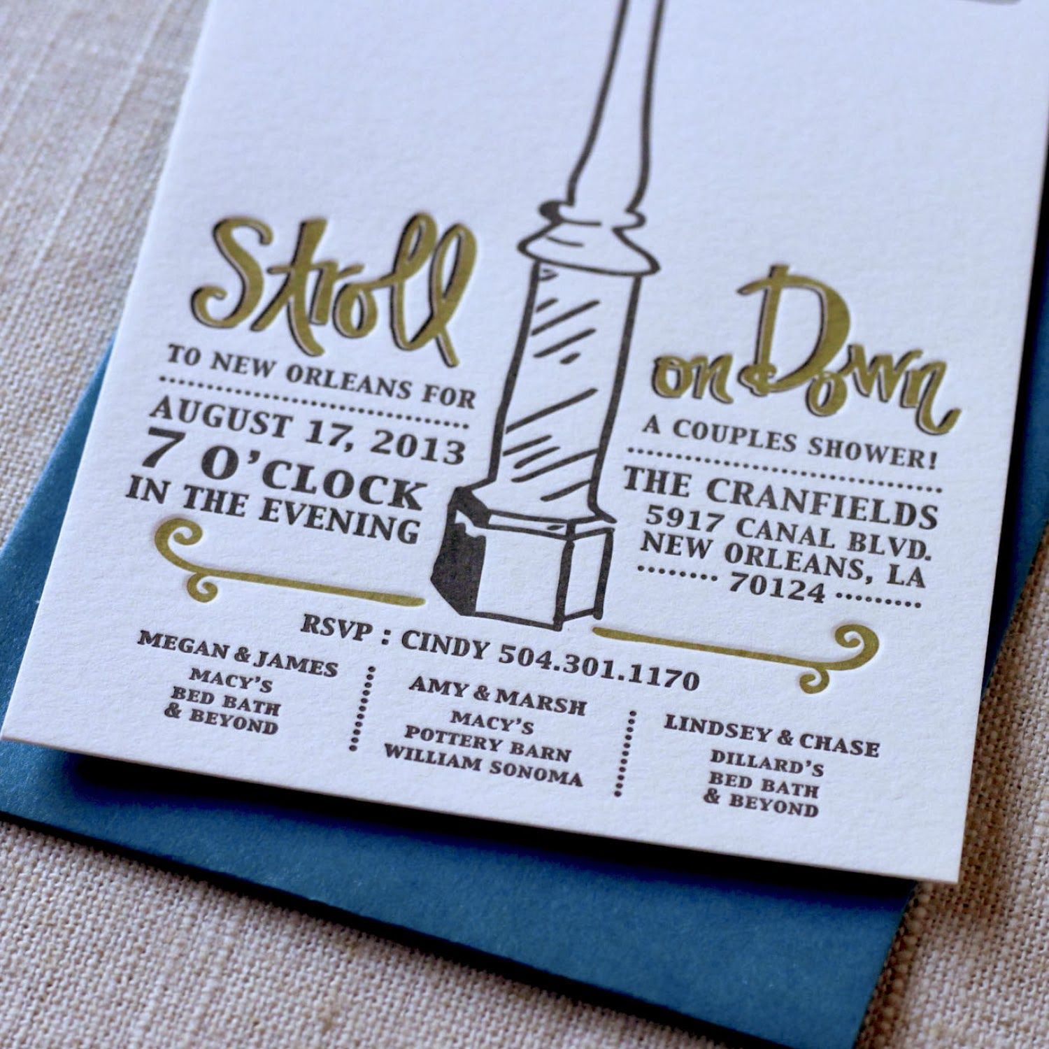 and it appears so for another new orleans wedding - New Orleans Wedding Invitations