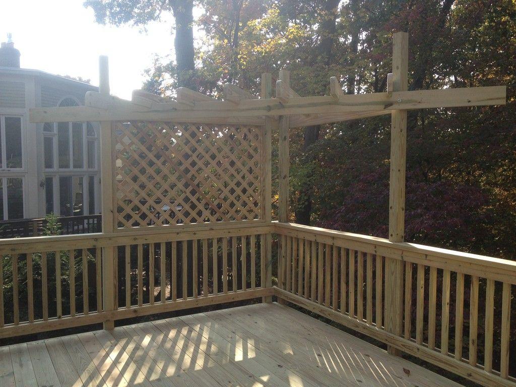 Decks With Pergolas And Lattice Pergola Amp Lattice Work