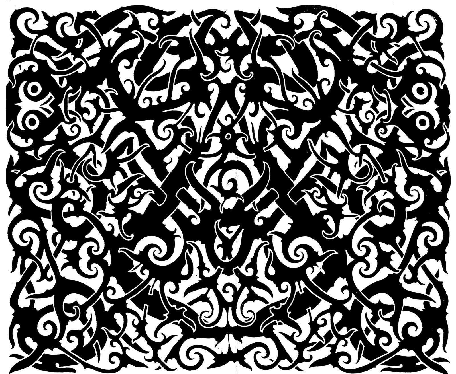 download macam macam motif dayak kalimantan barat tato borneo seni grafis kalimantan download macam macam motif dayak