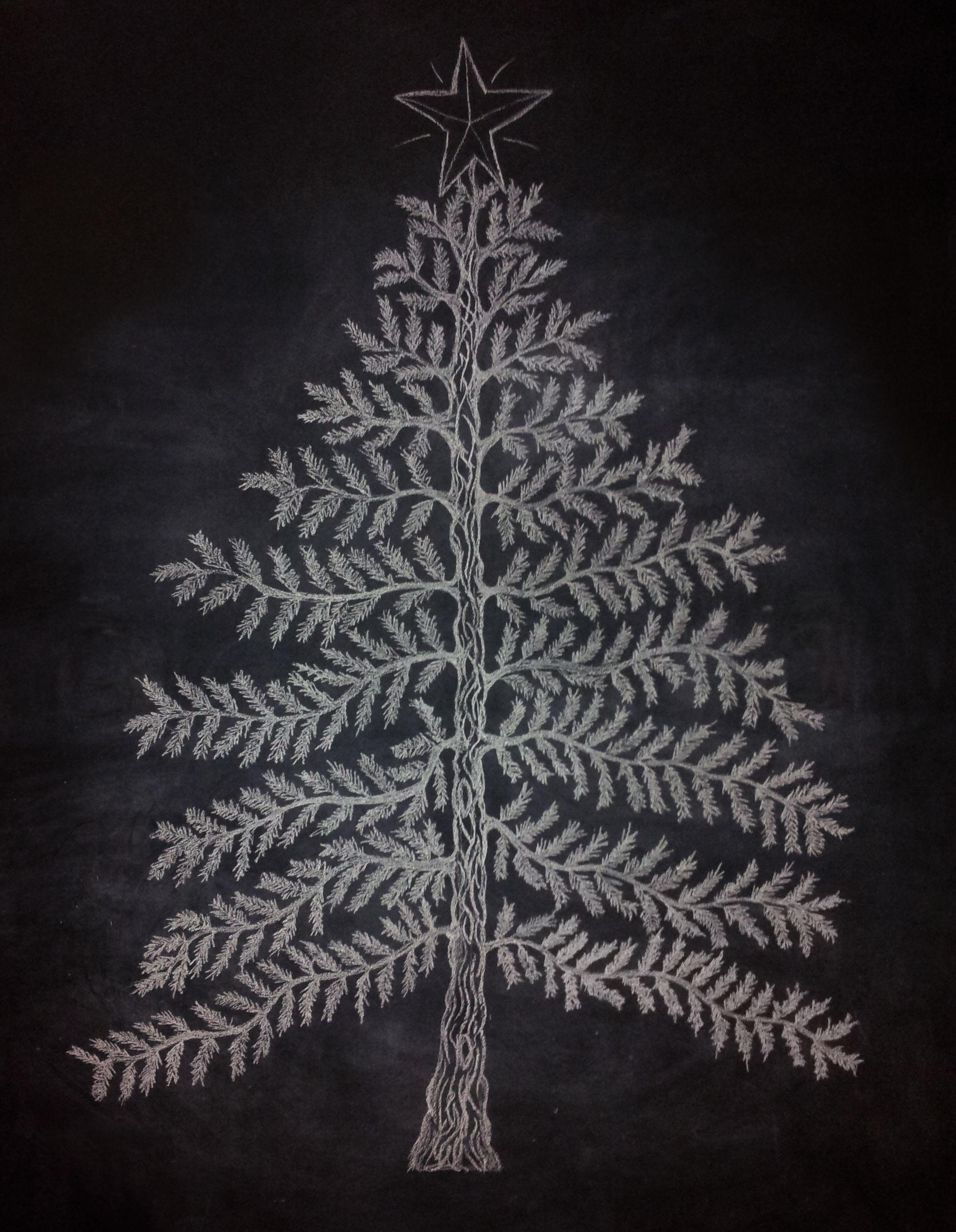 My Christmas Tree Chalkboard Wall Christmas Tree Drawing Small Christmas Trees Christmas Chalkboard