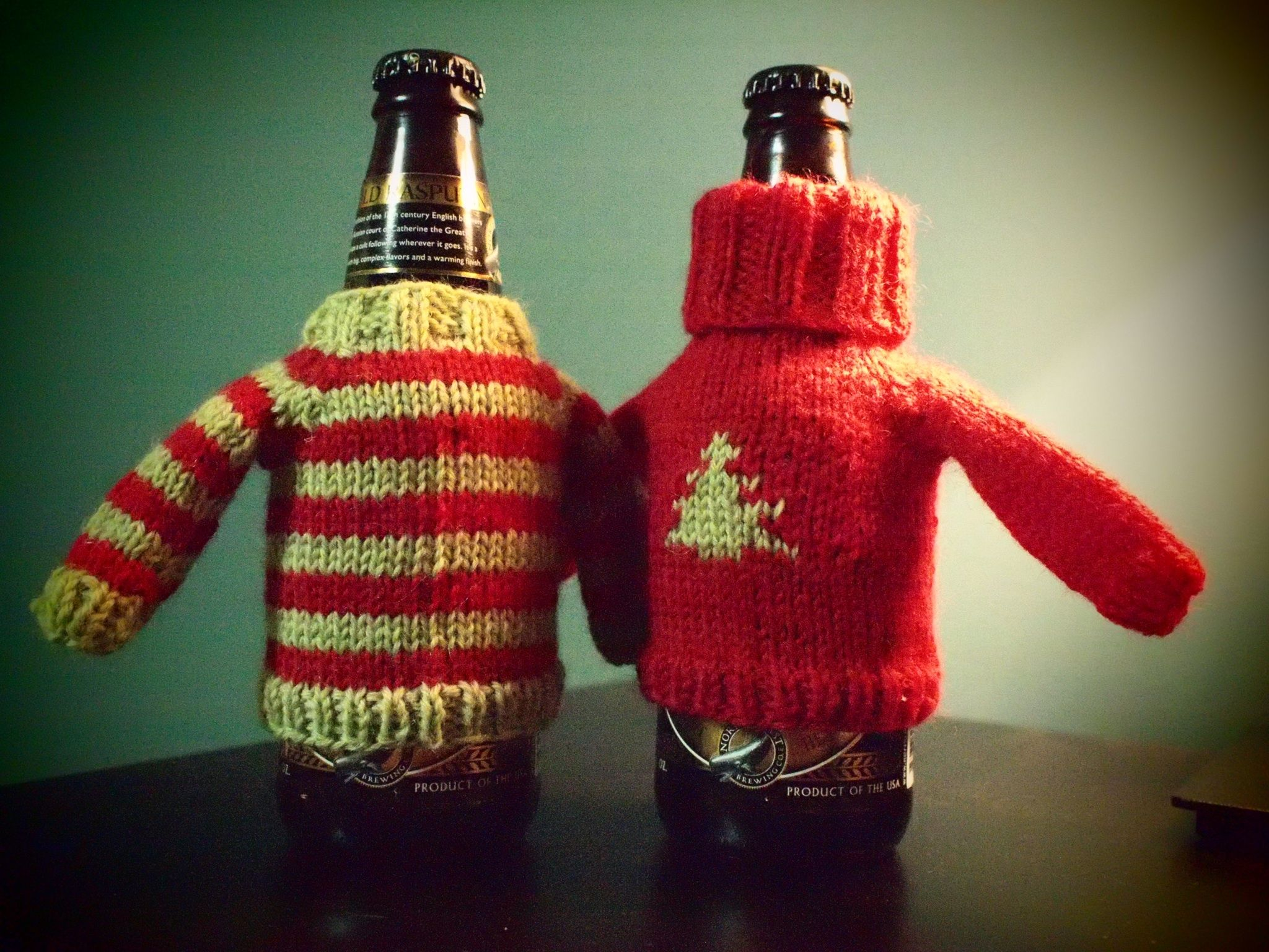 Decorate Beer Bottles For Christmas Beer Sweaters  Ugly Christmas Sweaters ♥  Pinterest