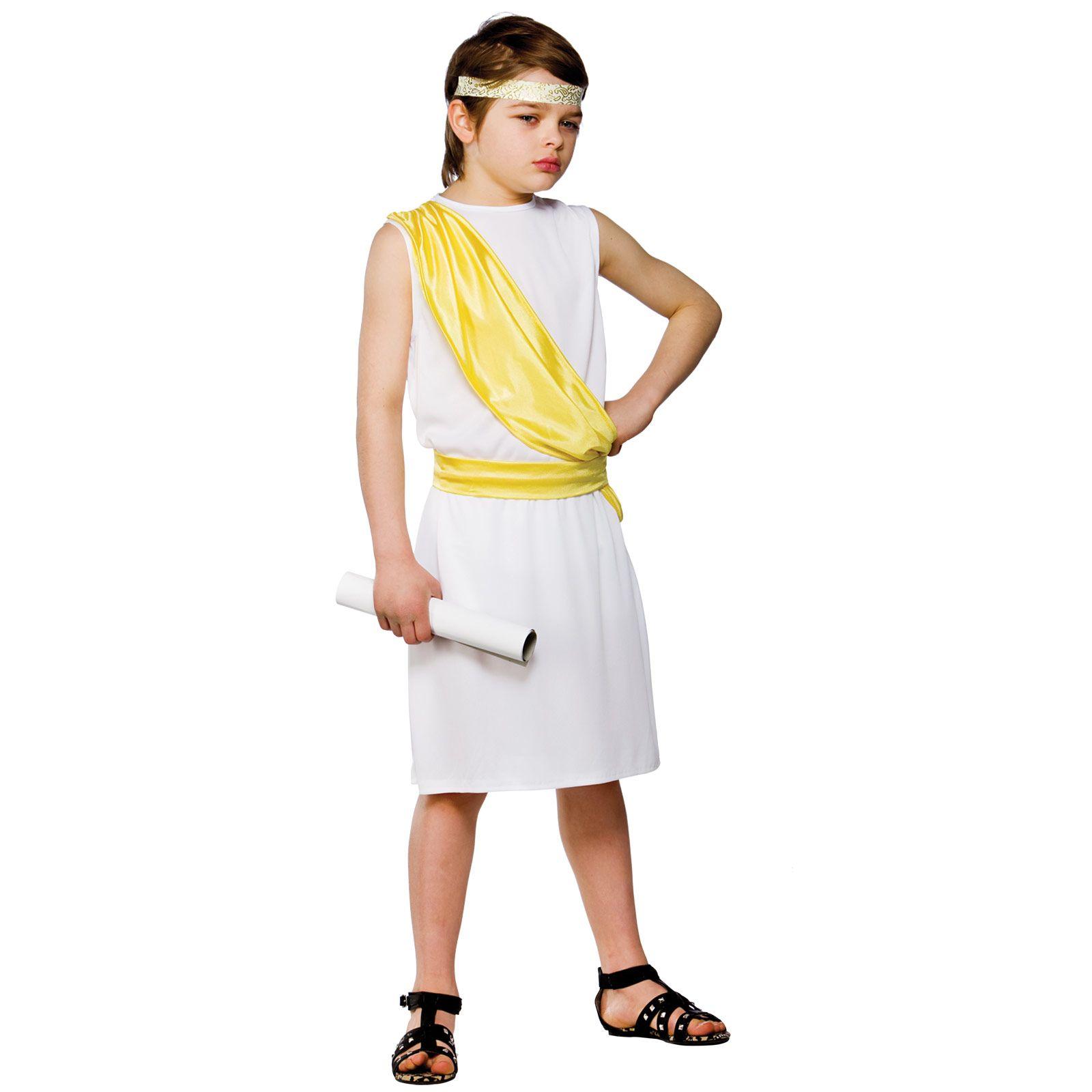Greek Toga Kids Boys ancient greek boy costume | Kids school ...