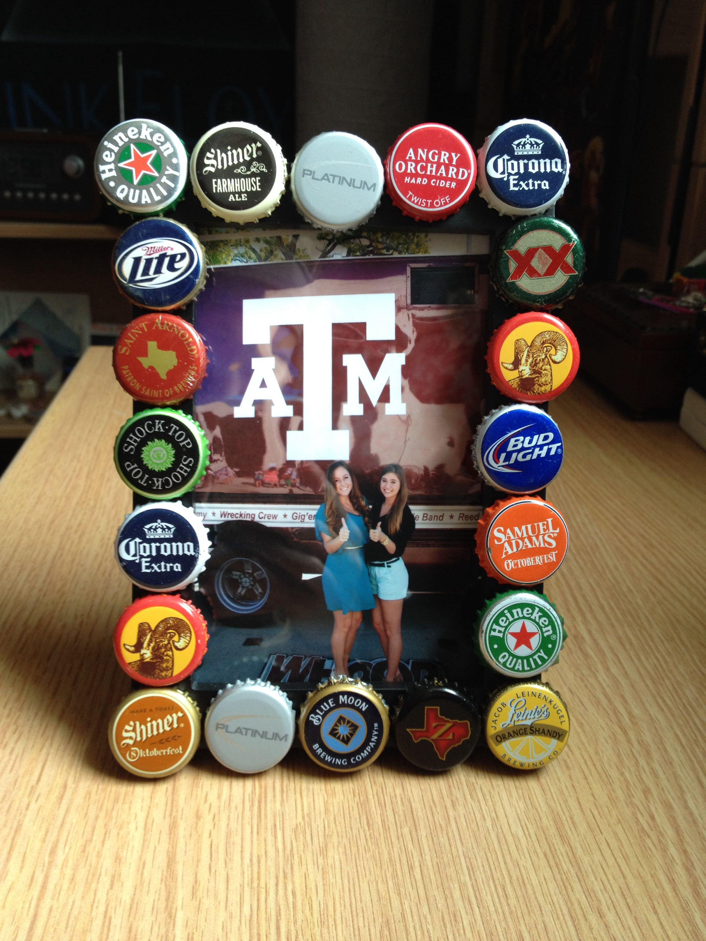 diy beer cap picture frame diy pinterest cas beer