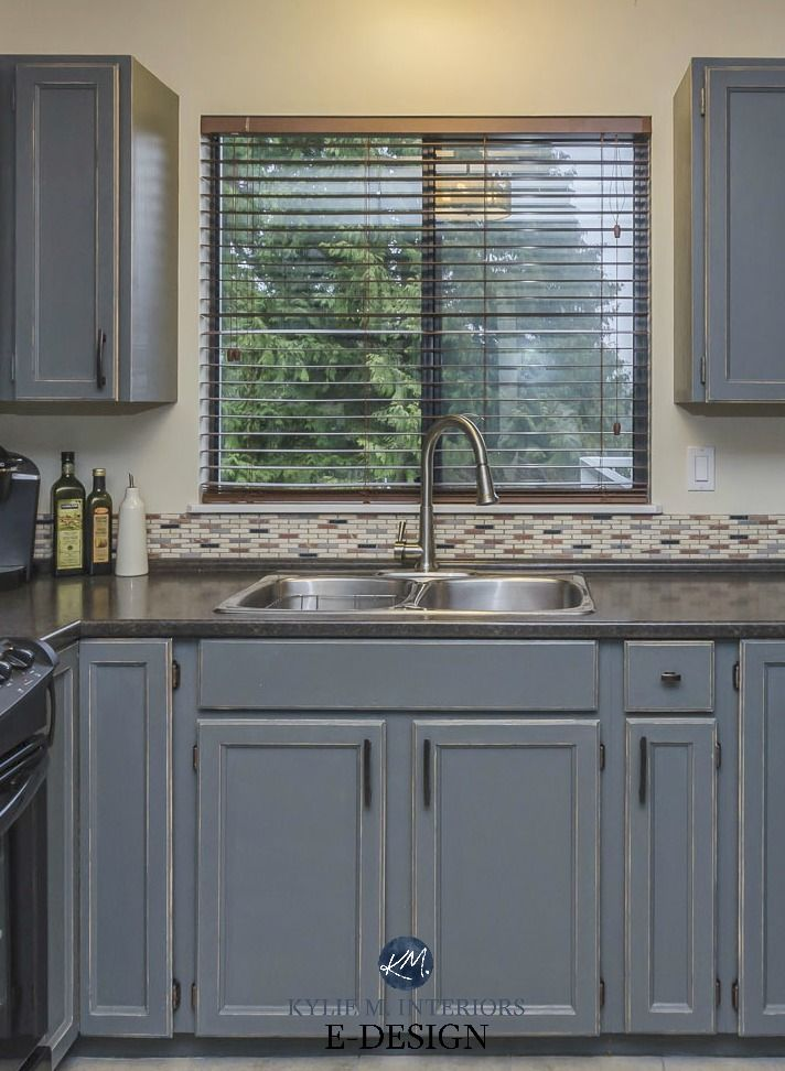 Best My Kitchen – Painted And Distressed Cabinets Oak To Gray 640 x 480
