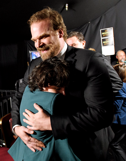 David Harbour and Finn Wolfhard