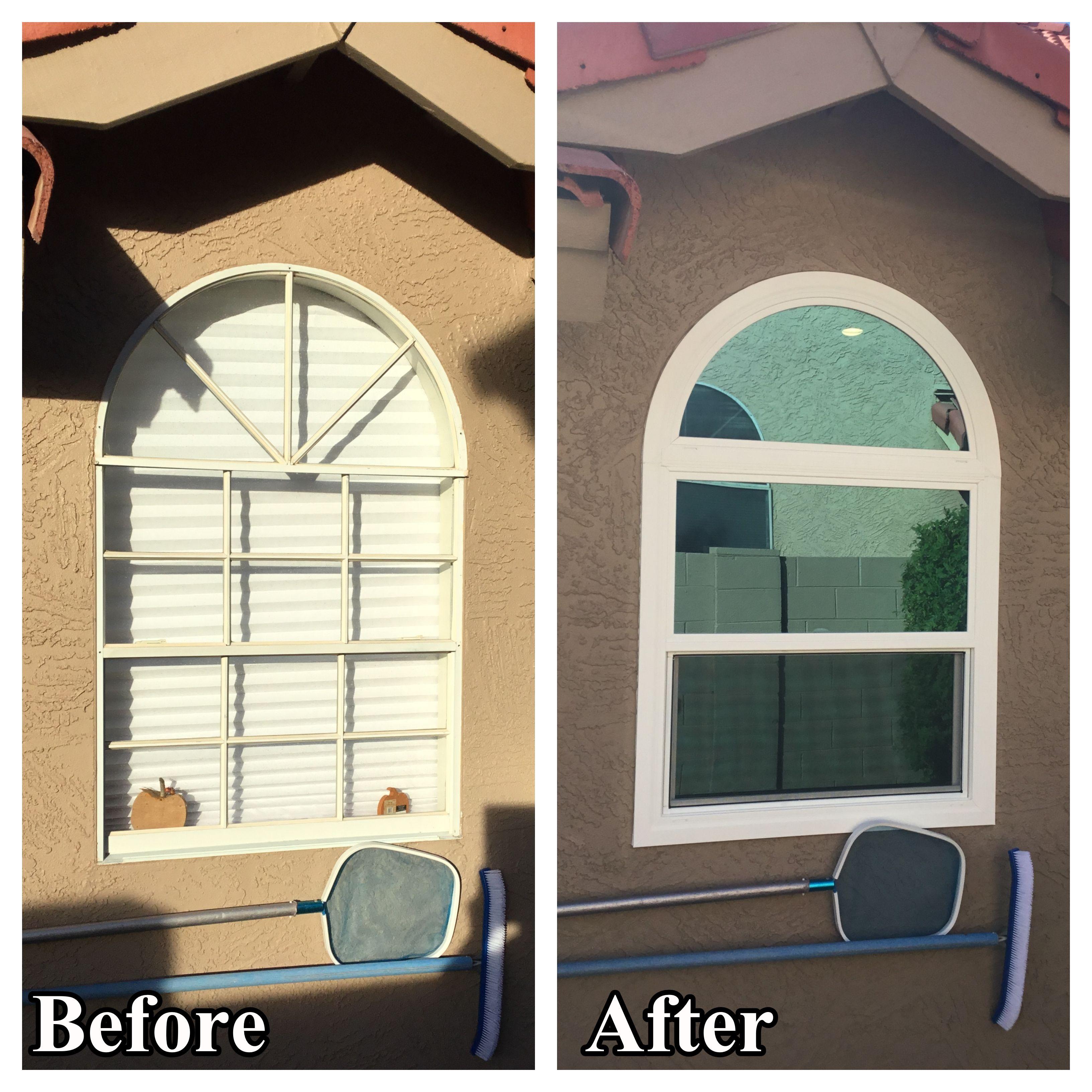 Before After New Energy Efficient Simonton Window In 2020 Windows Vinyl Replacement Windows Windows And Doors