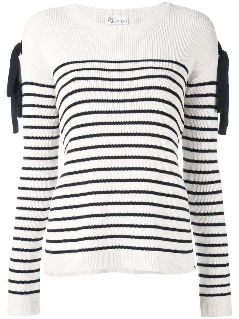 Valentino striped bow sweater Low Shipping DuIPTO6