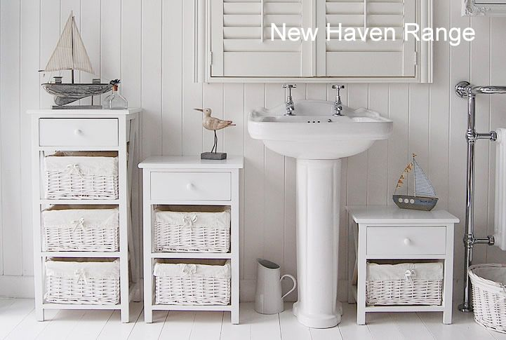 Incroyable New Haven Range Of Bathoom Furniture, Range Of Sizes Of White Freestanding  Cabinets