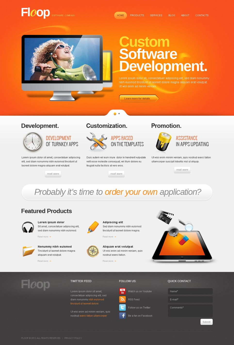Software Company Moto Cms Html Template Moto Company Software Web Design Software Wordpress Template Free Website Templates