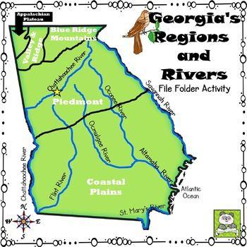 River Map Of Georgia.Map Of Georgia Regions And Rivers Twitterleesclub