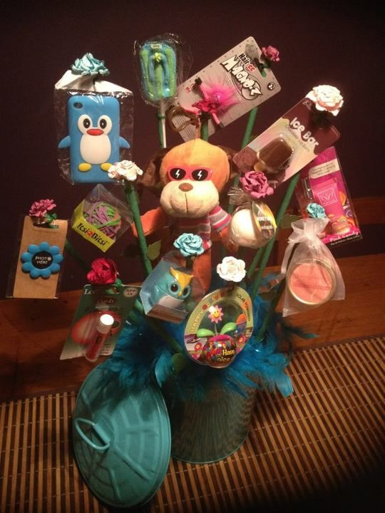 Made For My Daughters Best Friends 13th Birthdayhence Why There Are 13 Gifts On This Particular Pressie Plant