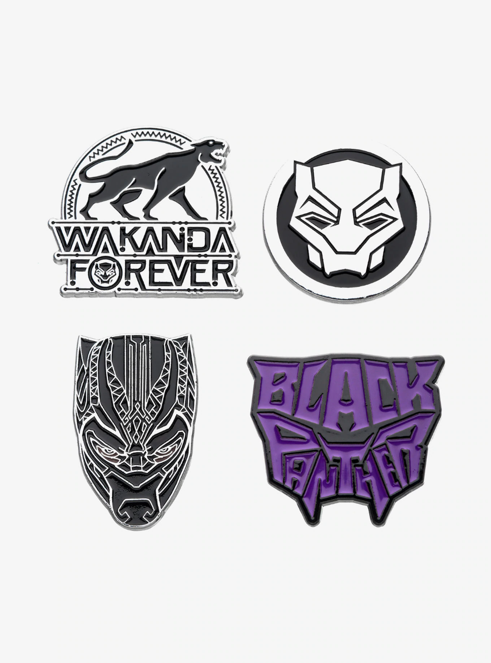Marvel Black Panther Wakanda Forever Enamel Pin Set Black Panther Tattoo Black Panther Marvel Black Panther
