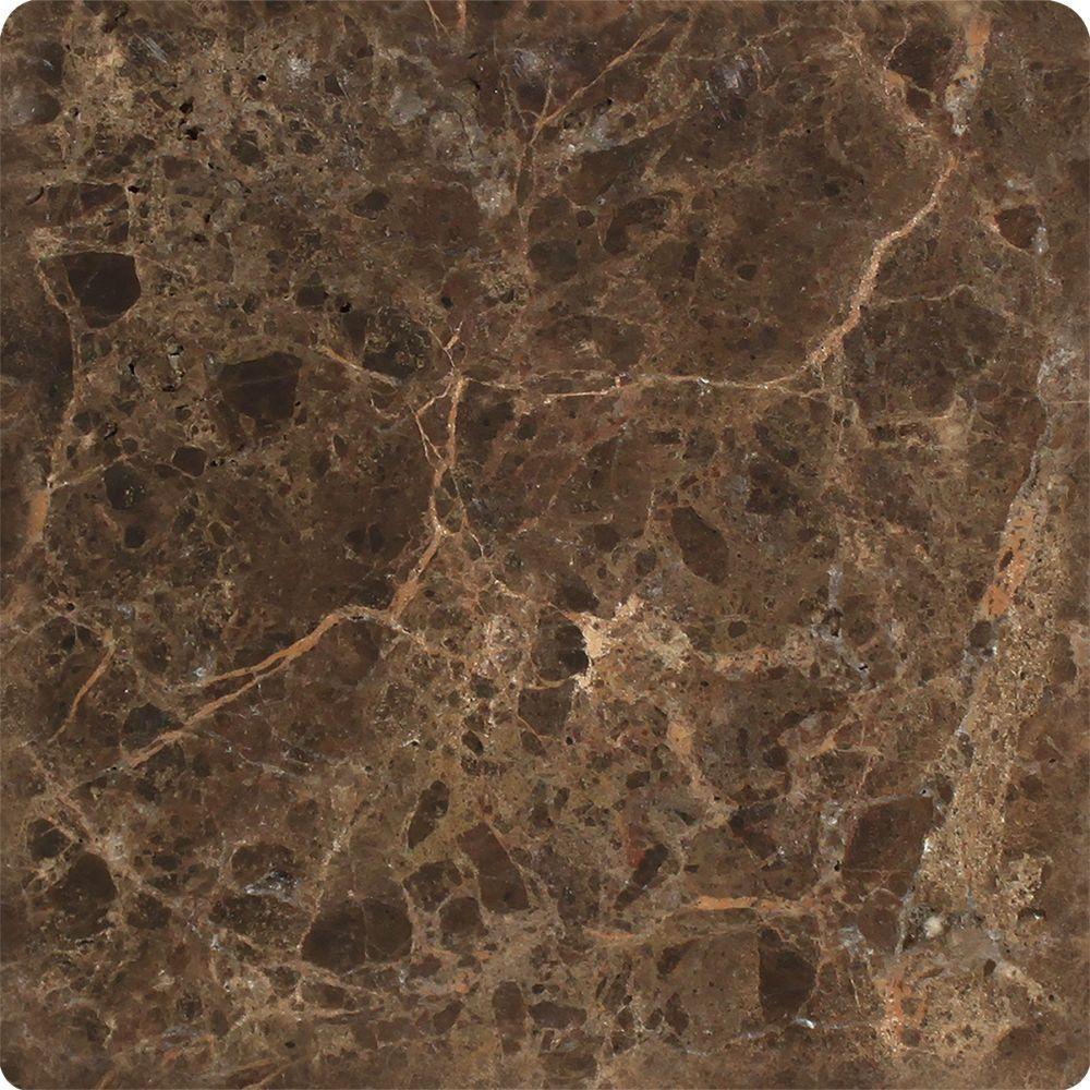 Dark Tile Master Bathroom: 6 X 6 Tumbled Emperador Dark Marble Tile In 2019