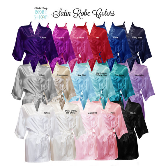 6c81e93d5a Set of 12 Personalized Satin Robes with Title on Back