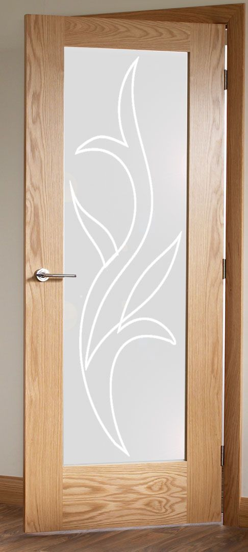 Dise o de vinilo para puerta moderno pero con aire cl sico for Cristales translucidos para puertas