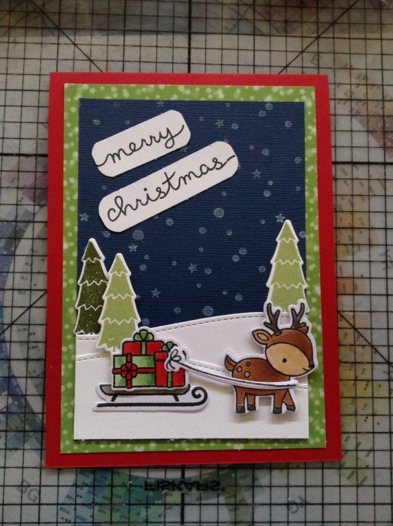 Lawn Fawn Toboggan Together Christmas card. | Lawn Fawn Ideas ...