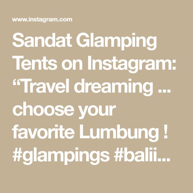 "Sandat Glamping Tents on Instagram: ""Travel dreaming ... choose your favorite Lumbung ! #glampings #baliindonesia #ubud #ecoresort #travelsafe #booknow‼️"""