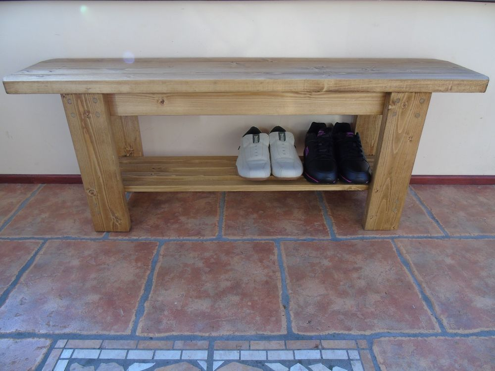 Fantastic Details About Rustic Handmade Wooden Bench Shoe Rack Gmtry Best Dining Table And Chair Ideas Images Gmtryco