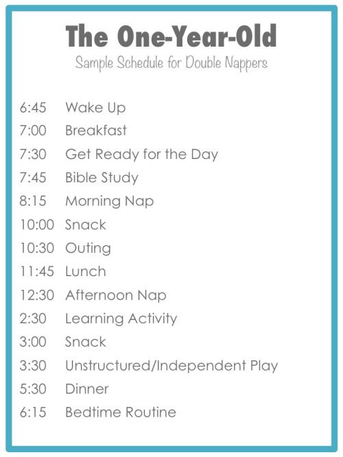 7 month old baby schedule