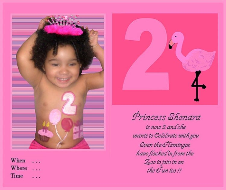Pink Birthday Invitation Wording For 3 Year Old