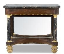 A Classical Rosewood And Marble Pier Table Possibly Baltimore Early 19th C Antique Furniture French Furniture Design American Furniture