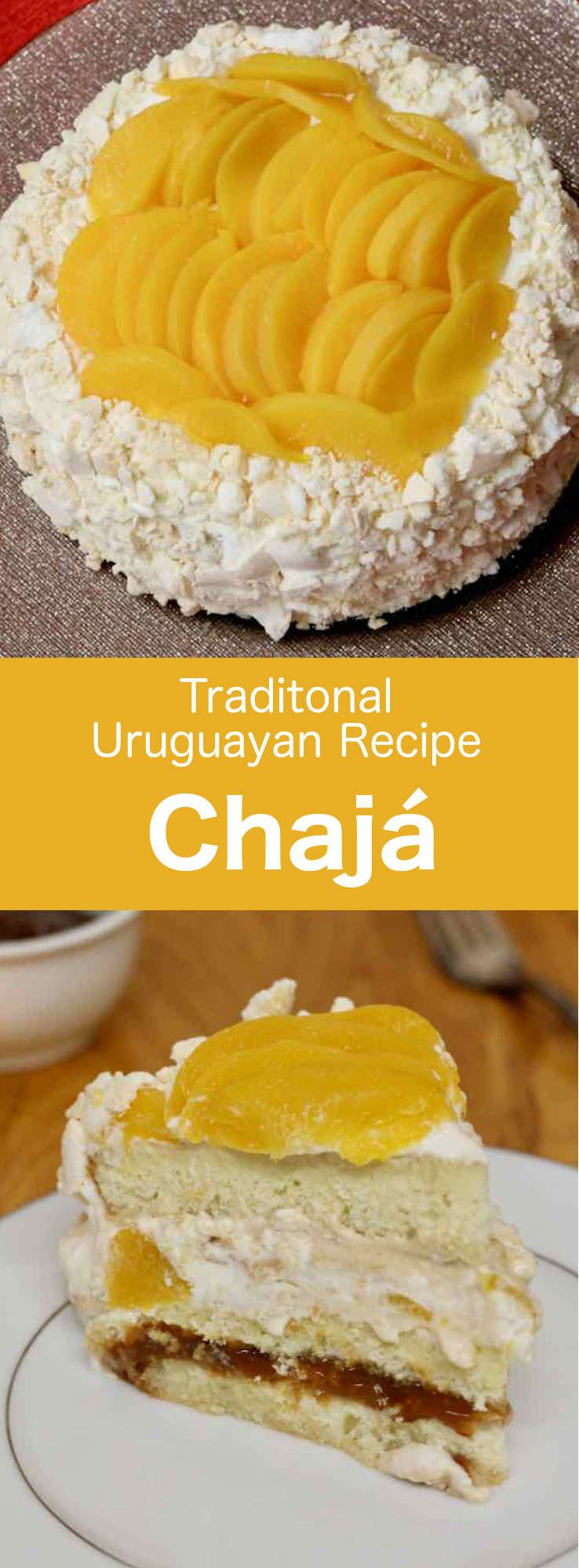 Chaja Is A Deliciously Light Dessert Typical Of Uruguayan Cuisine Consisting Of Meringue Sponge Cake Whipped Cream And Syrup Pe Desserts Light Desserts Food