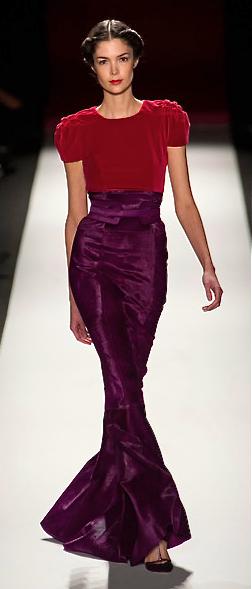 Carolina Herrera, fall 2013///LOVE red and purple!!!