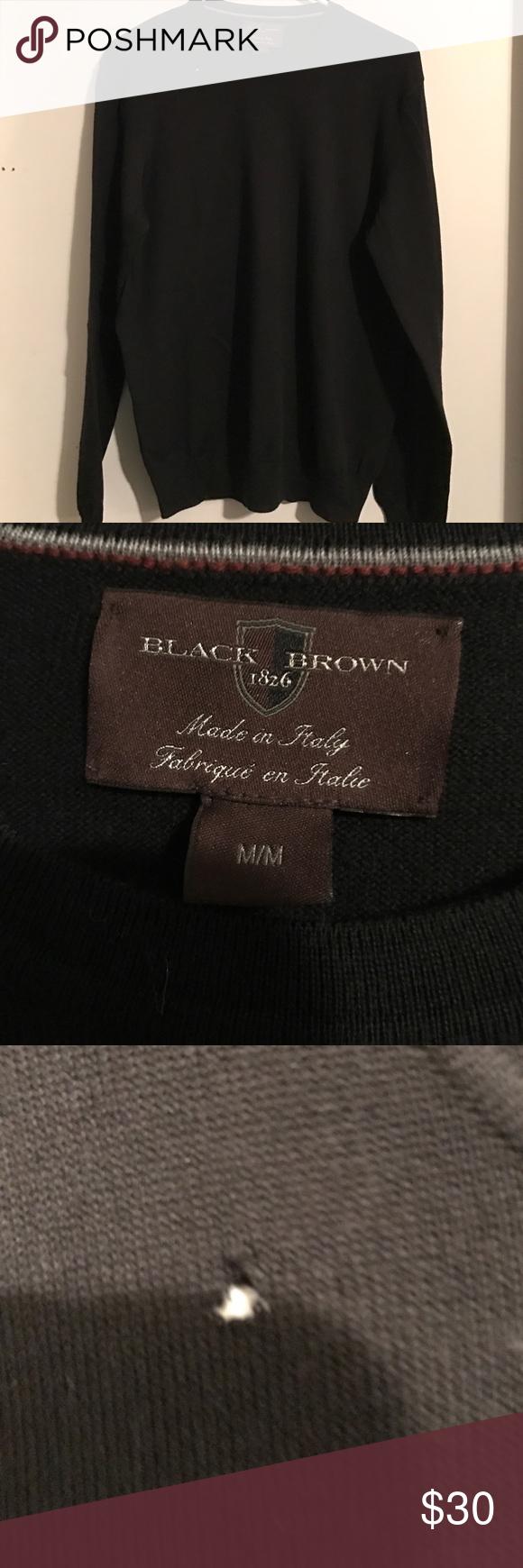 Black brown 1826 merino wool men's sweater Beautiful men's sweater ...