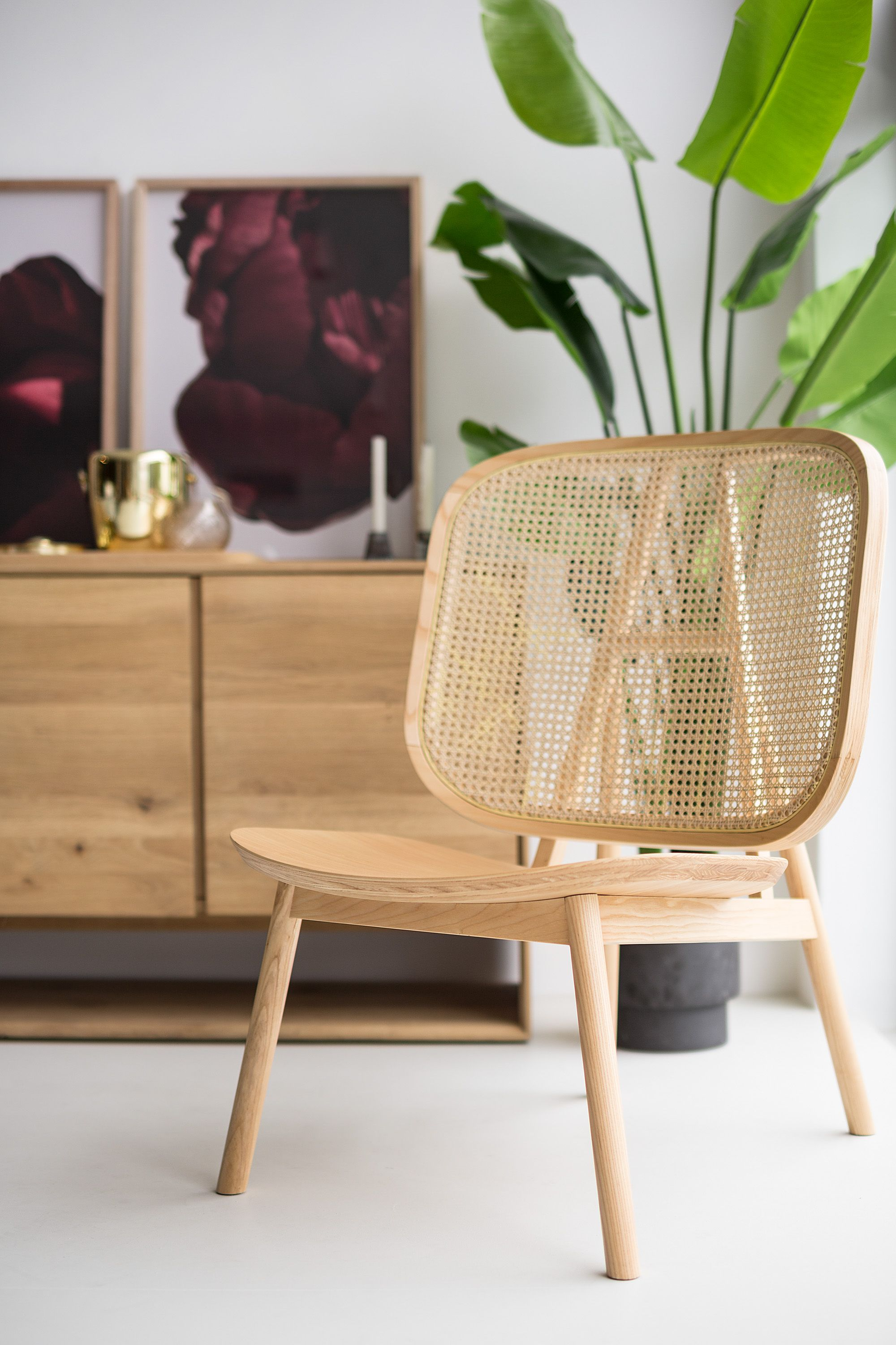 Cane lounge chair by curio living room furniture online