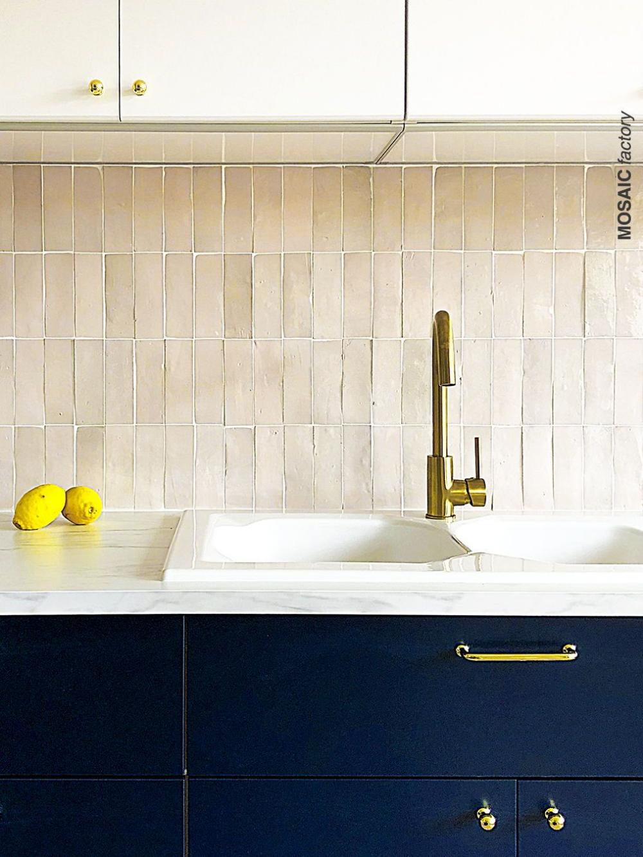 Vertical Zellige Tile Kitchen Google Search In 2020 Kitchen Tiles Brick Backsplash Kitchen Tile Backsplash