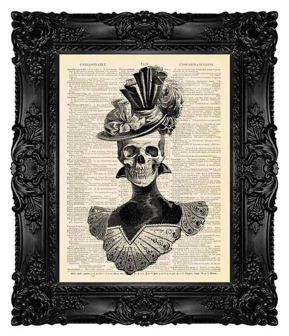 Skull Illustration  Skull Art Print  by MadameBricolagePrint, $18.00