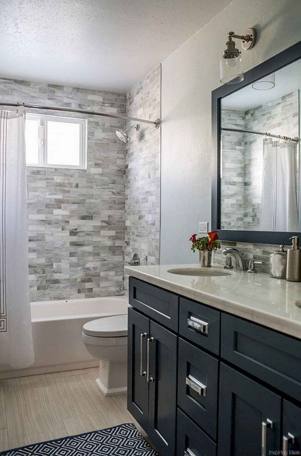 76 Genius Small Bathroom Makeover Ideas in 2020 | Gray ...