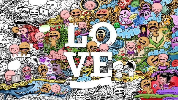LOVE DOODLES Wallpaper by Kerby Rosanes, via Behance
