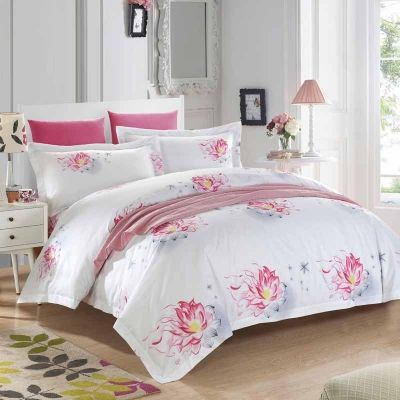 Cheap Bed Duvet Covers, Buy Quality Linen Sheets Directly From China Bedding  Linen Suppliers: ROMORUS White Red Cotton Five Star Hotel Bed Cover Queen  King ...